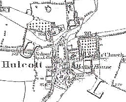 OS map of Hulcott Village. Click here for larger view